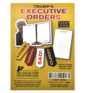 Trump's Executive Orders Sticky Notes Set Thumbnail 2