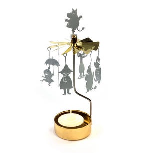 Moomins  / Little My / Snufkin Anglaspel - Rotary Candle Holder