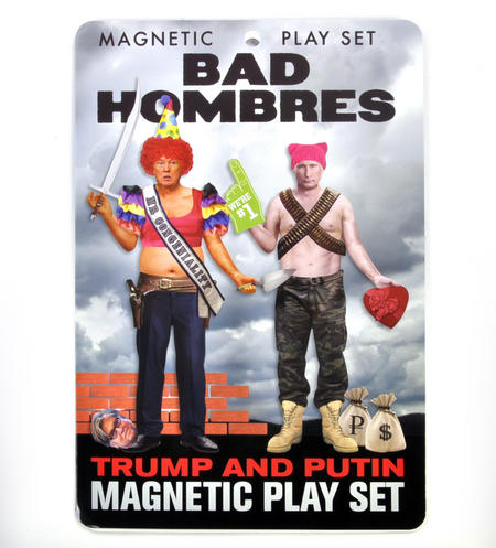 "Trump & Putin ""Bad Hombres"" Magnetic Play Fridge Magnet Set"