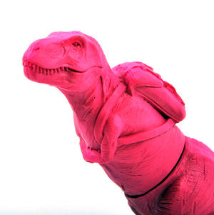 T Rex Pink Highlighter Pen Thumbnail 2