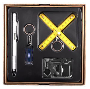 Handy Man Gift Set in Gift Box with Survival Tool / 4 in 1 Pen Multi Tool / Folding Ruler etc Thumbnail 2