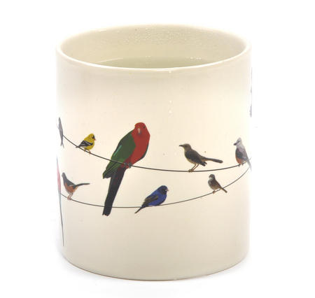 Birds on a Wire Heat Change Mug