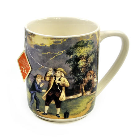 Benjamin Franklin Electrici-Tea Mug with Tea Bag Notch