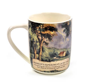 Benjamin Franklin Electrici-Tea Mug with Tea Bag Notch Thumbnail 3