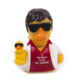 Say Hello to My Lil' Friend Rubber Duck - Celebriduck for Al Pacino Scarface Fans Thumbnail 2