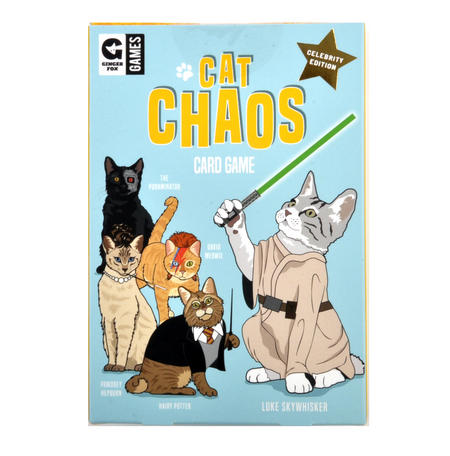 Cat Chaos Card Game - Celebrity Edition with Hairy Potter David Meowie Luke Skywhisker