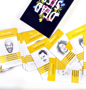 Dead Sleb - Celebrity Trumps Card Game with Steve Jobs, Bob Marley, Freddie Mercury & Many More