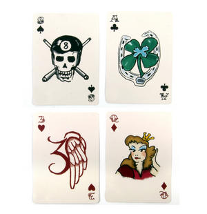 Tattoo Playing Cards - Random Red or Blue Backed Thumbnail 4