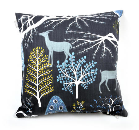 Blue Sagoskog Swedish Fairytale Cushion / Pillow