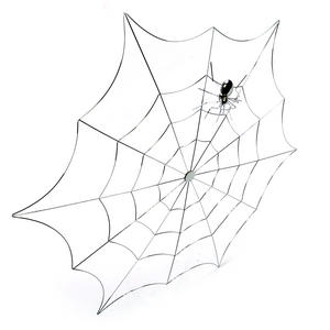 "Spider and Web - 21"" / 53cm Metal Wall Decor"