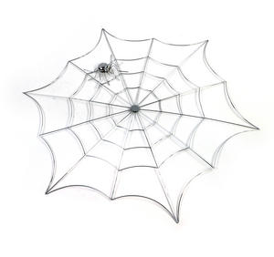 "Spider and Web - 21"" / 53cm Metal Wall Decor Thumbnail 2"
