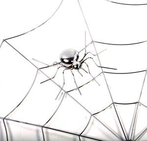 "Spider and Web - 21"" / 53cm Metal Wall Decor Thumbnail 3"
