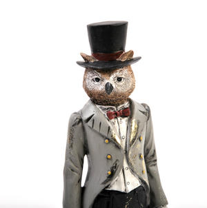 Standing Owl - 26cm Dapper Animals Thumbnail 2
