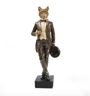 Standing Fox - 38cm Dapper Animals Thumbnail 1