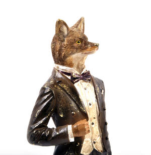 Standing Fox - 38cm Dapper Animals Thumbnail 2