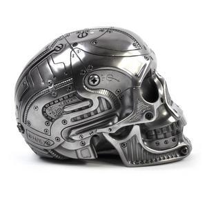 Techno Head Gun Metal Skull 19cm Thumbnail 2