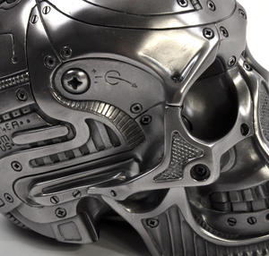 Techno Head Gun Metal Skull 19cm Thumbnail 3