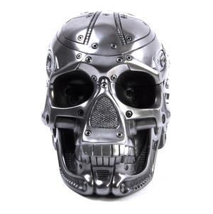 Techno Head Gun Metal Skull 19cm Thumbnail 4