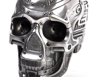 Techno Head Gun Metal Skull 19cm Thumbnail 5