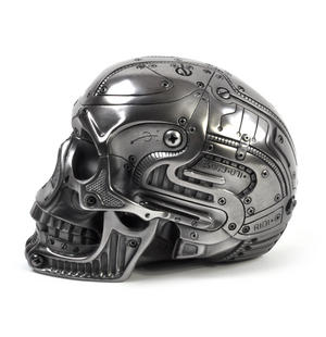 Techno Head Gun Metal Skull 19cm Thumbnail 6
