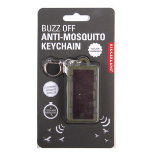 Buzz Off Anti Mosquito Keychain - Solar Powered Electronic Mosquito Repeller Thumbnail 1