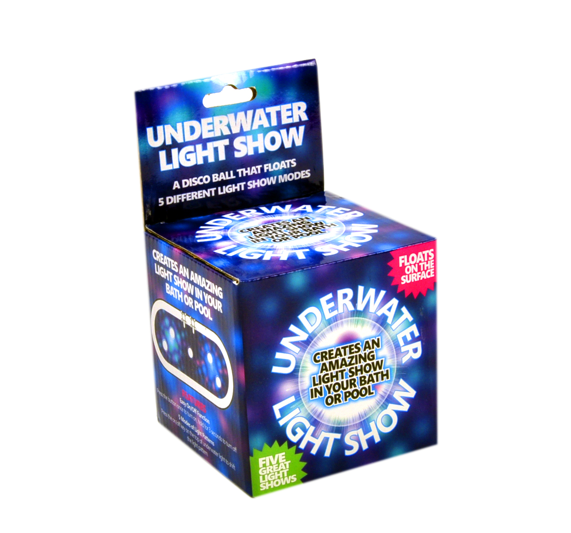 Underwater Light Show - Disco Bath / Pool Ball with 5 Light Shows ...