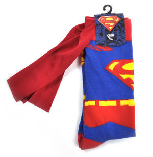 Superman Socks with Red Cape