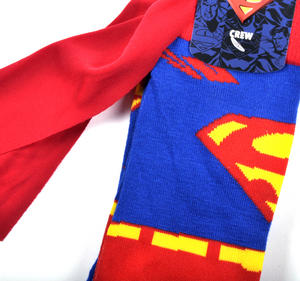 Superman Socks with Red Cape Thumbnail 2