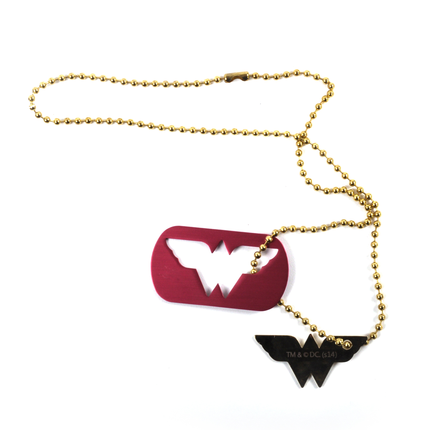 Wonder woman dog tag cut out pendant necklace pink cat shop wonder woman dog tag cut out pendant necklace aloadofball Image collections