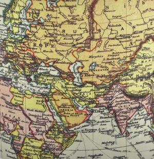 White Map of the World Enamel Mug Thumbnail 2
