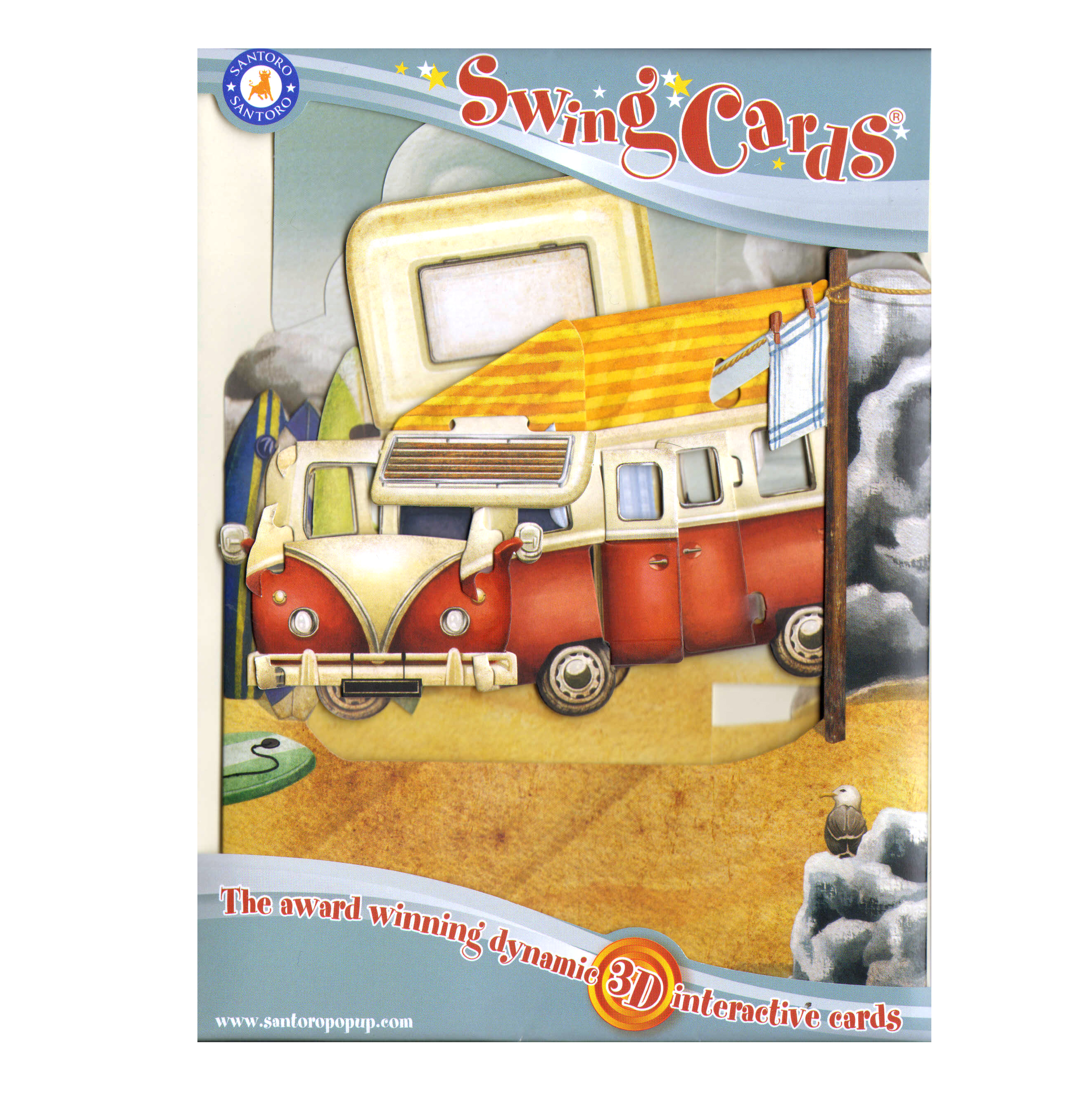 Vw camper van swing card award winning dynamic 3d interactive vw camper van swing card award winning dynamic 3d interactive greetings card kristyandbryce Image collections