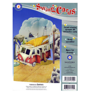 Camper Van Swing Card - Award Winning Dynamic 3D Interactive Greetings Card Thumbnail 2