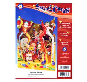 Big Top Clowns Swing Card - Award Winning Dynamic 3D Interactive Greetings Card Thumbnail 2