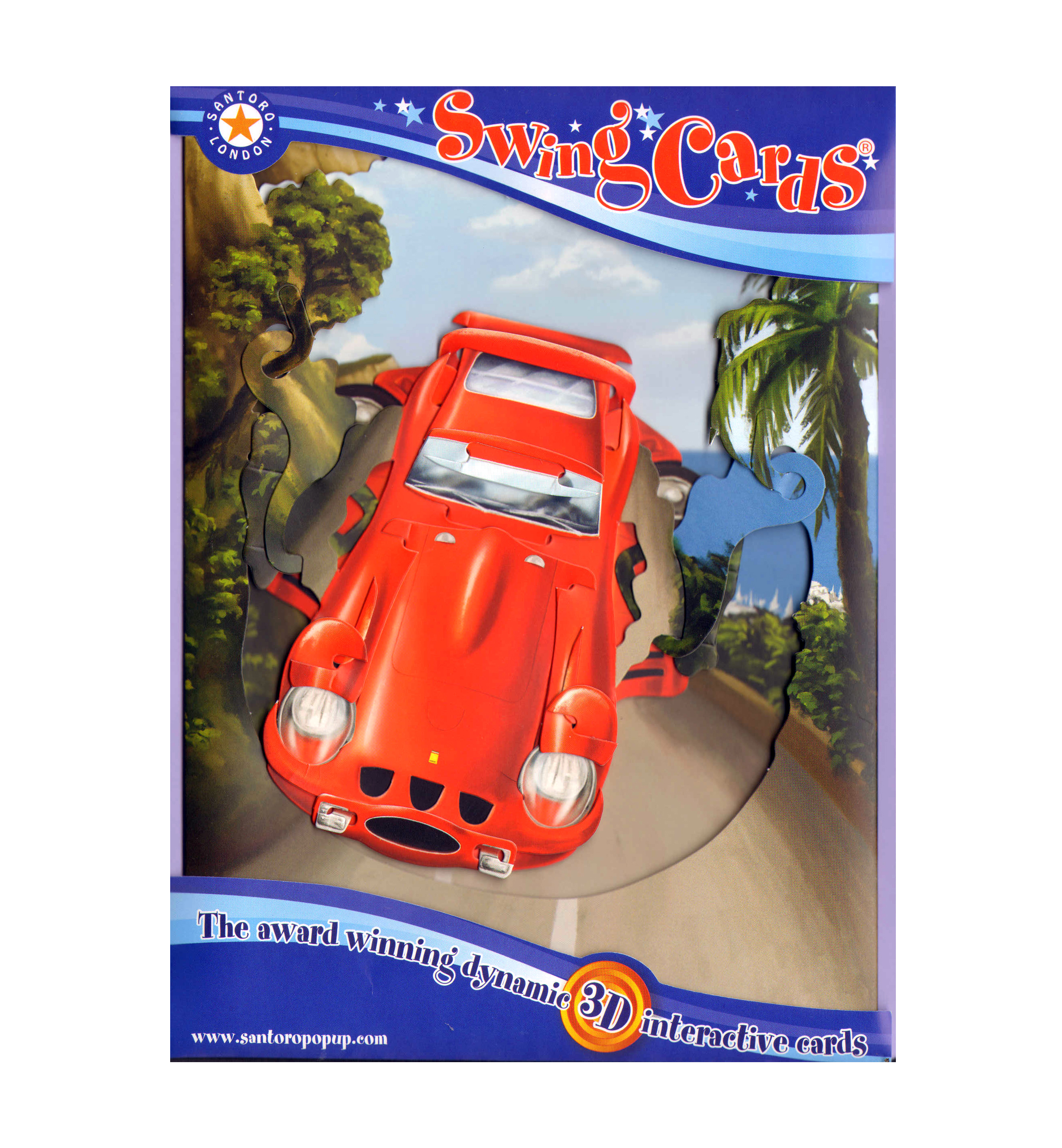 Sports car swing card award winning dynamic 3d interactive sports car swing card award winning dynamic 3d interactive greetings card m4hsunfo