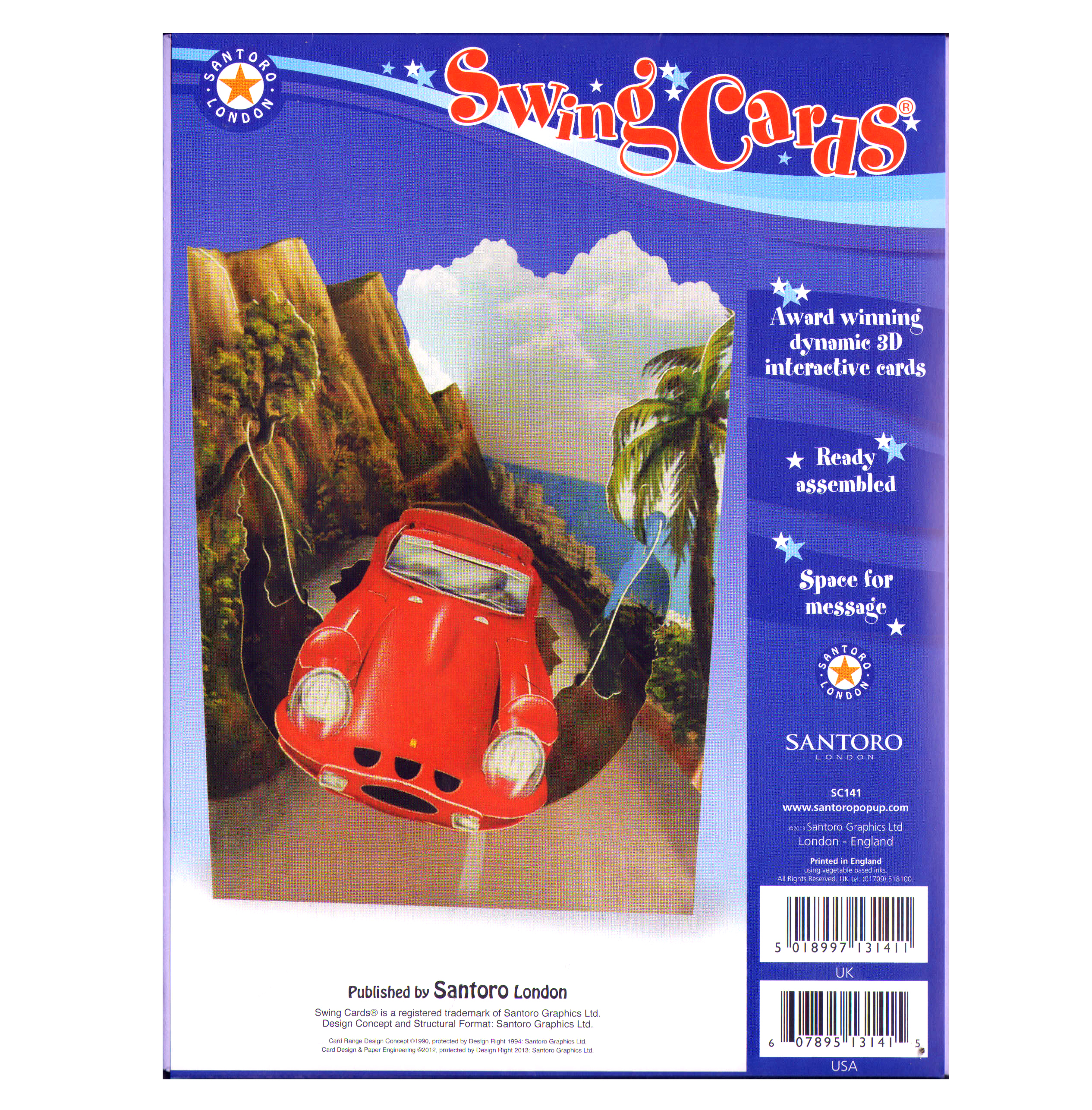 Sports car swing card award winning dynamic 3d interactive sentinel sports car swing card award winning dynamic 3d interactive greetings card kristyandbryce Image collections