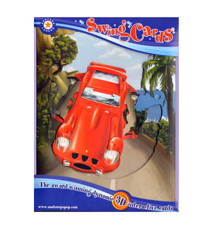 Sports Car Swing Card - Award Winning Dynamic 3D Interactive Greetings Card