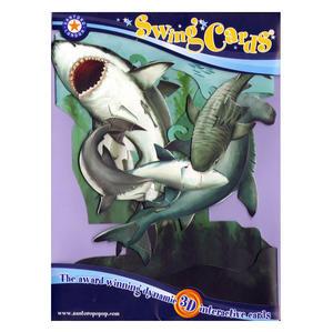 Sharks Swing Card - Award Winning Dynamic 3D Interactive Greetings Card