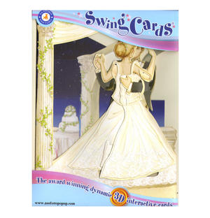 Wedding Dance Swing Card - Award Winning Dynamic 3D Interactive Greetings Card Thumbnail 1