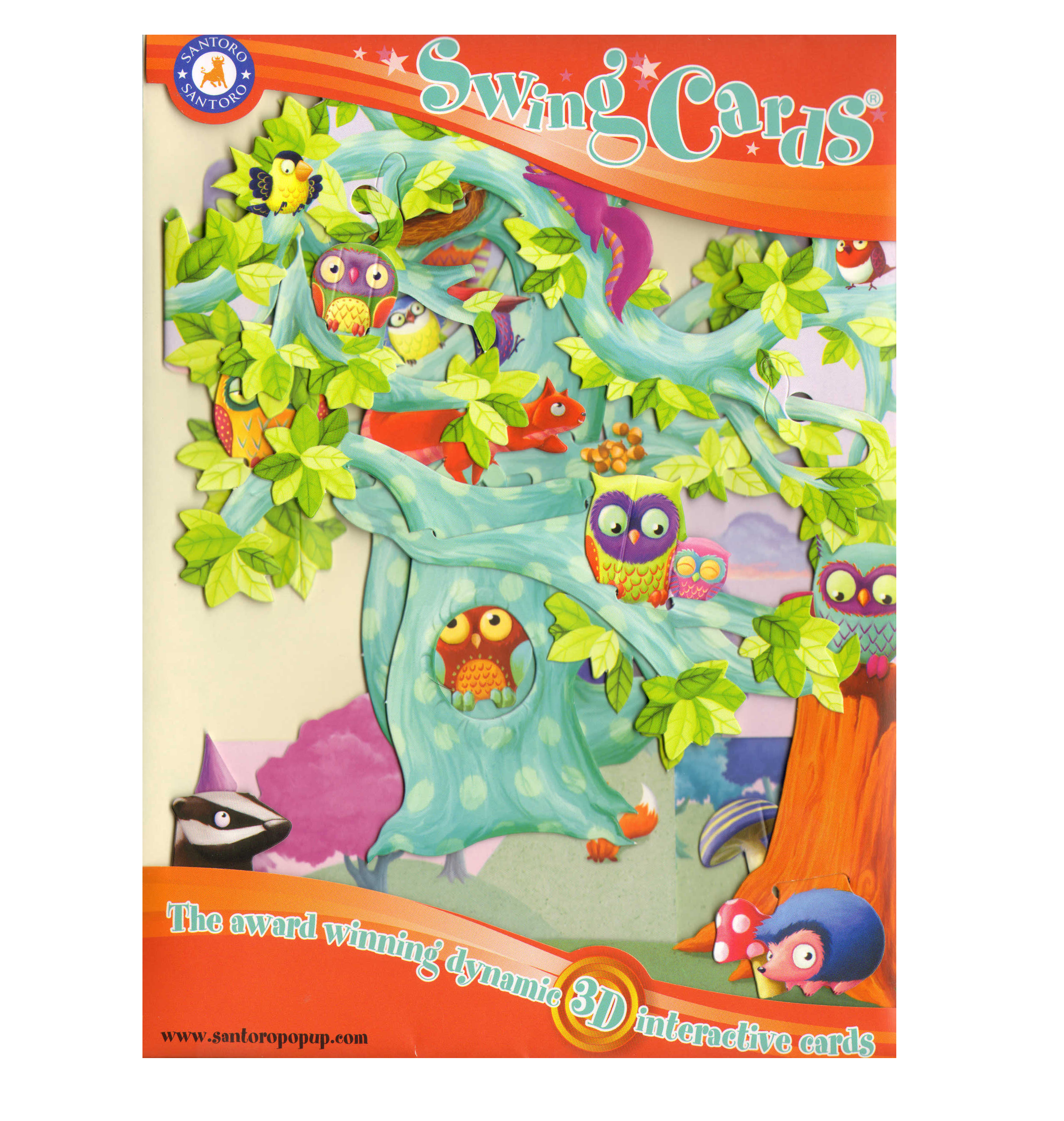 Woodland tree of birds swing card award winning dynamic 3d woodland tree of birds swing card award winning dynamic 3d interactive greetings card kristyandbryce Image collections