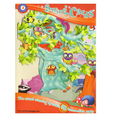 Woodland Tree of Birds Swing Card - Award Winning Dynamic 3D Interactive Greetings Card