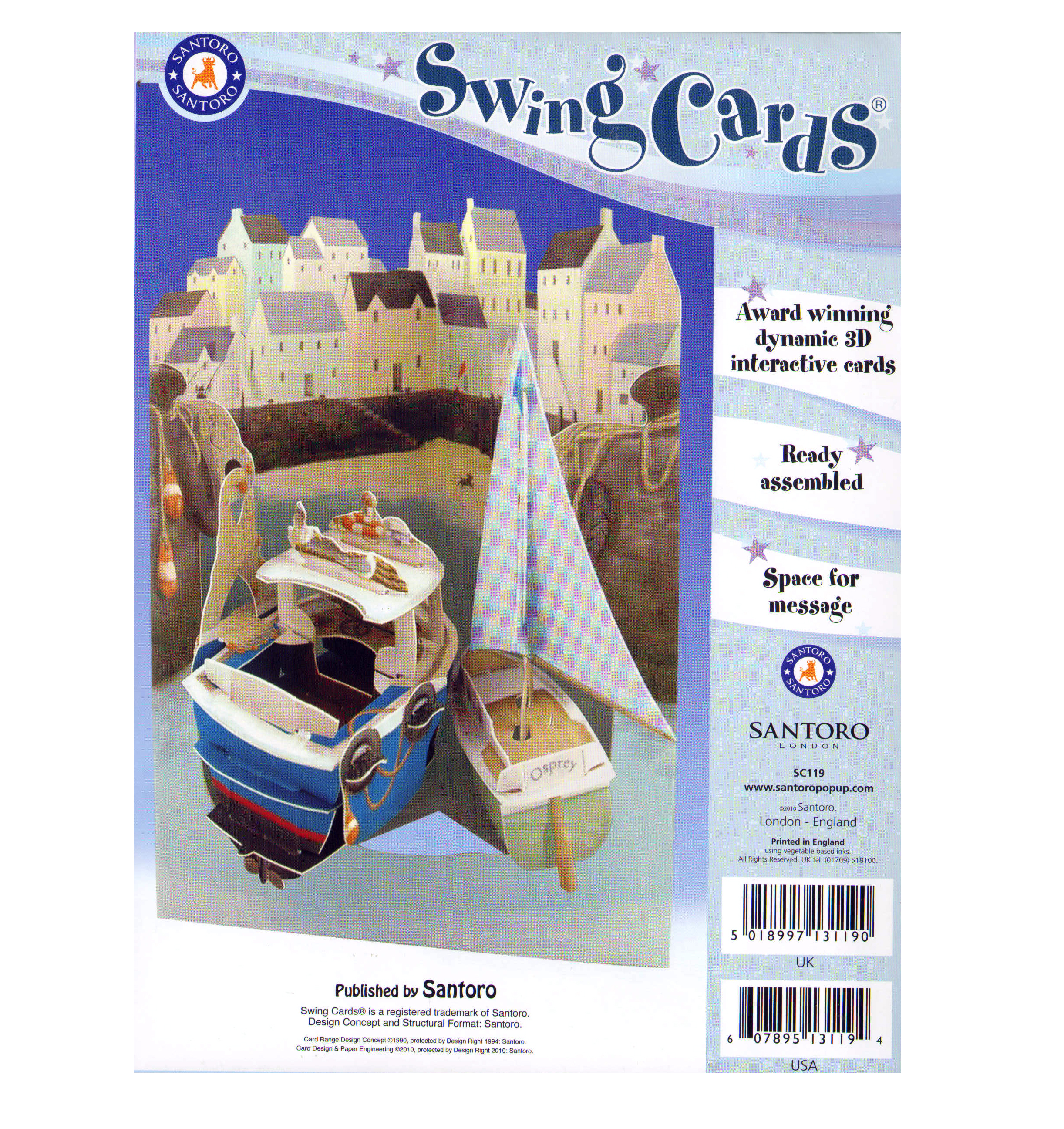 Harbour Swing Card Award Winning Dynamic 3d Interactive Greetings