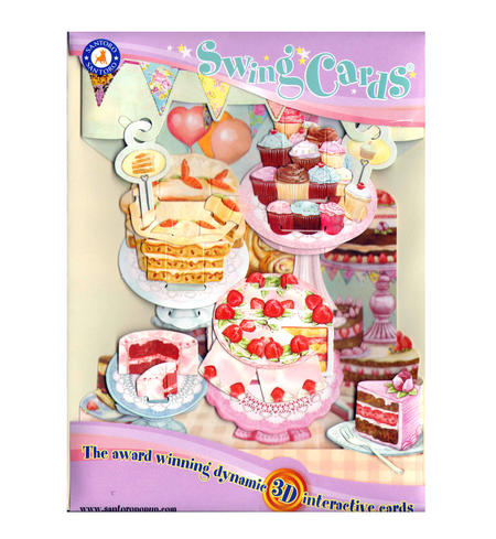 Home Baked Cakes Swing Card - Award Winning Dynamic 3D Interactive Greetings Card