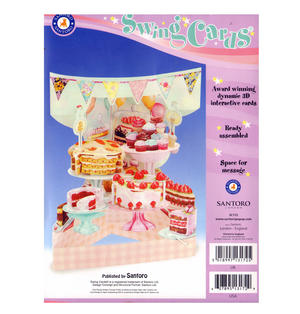 Home Baked Cakes Swing Card - Award Winning Dynamic 3D Interactive Greetings Card Thumbnail 2