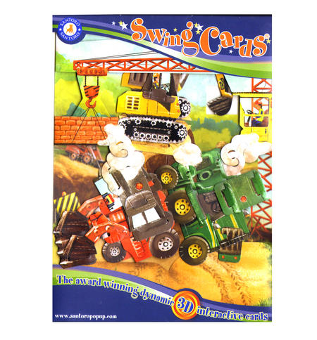 Tractors & Diggers Swing Card - Award Winning Dynamic 3D Interactive Greetings Card