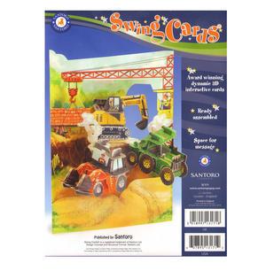 Tractors & Diggers Swing Card - Award Winning Dynamic 3D Interactive Greetings Card Thumbnail 2