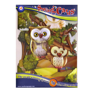 Owls Swing Card - Award Winning Dynamic 3D Interactive Greetings Card