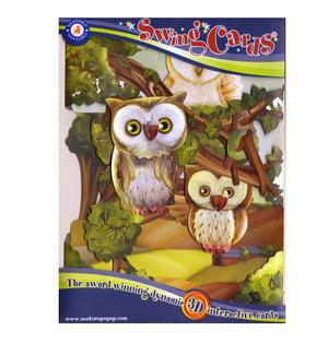 Owls Swing Card - Award Winning Dynamic 3D Interactive Greetings Card Thumbnail 1