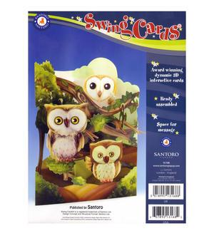 Owls Swing Card - Award Winning Dynamic 3D Interactive Greetings Card Thumbnail 2