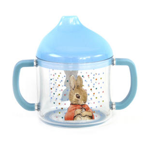 Peter Rabbit & Flopsy Bunny Sippy Cup / Lidded Beaker with Spout