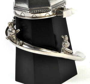 Bunny Day Out - Helter Skelter Pewter Music Box by Royal Selangor Thumbnail 2